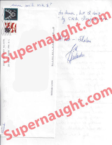 Fred Neulander two page letter and envelope both signed - Supernaught True Crime Collectibles