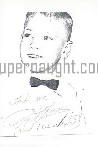 roy norris signed childhood photo