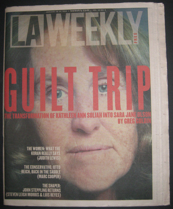 Sarah Jane Olson 2002 LA Weekly Magazine - Supernaught True Crime Collectibles