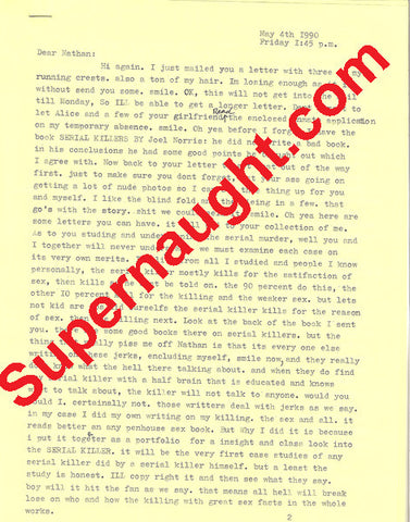 Clifford Olson Six Page Letter Signed