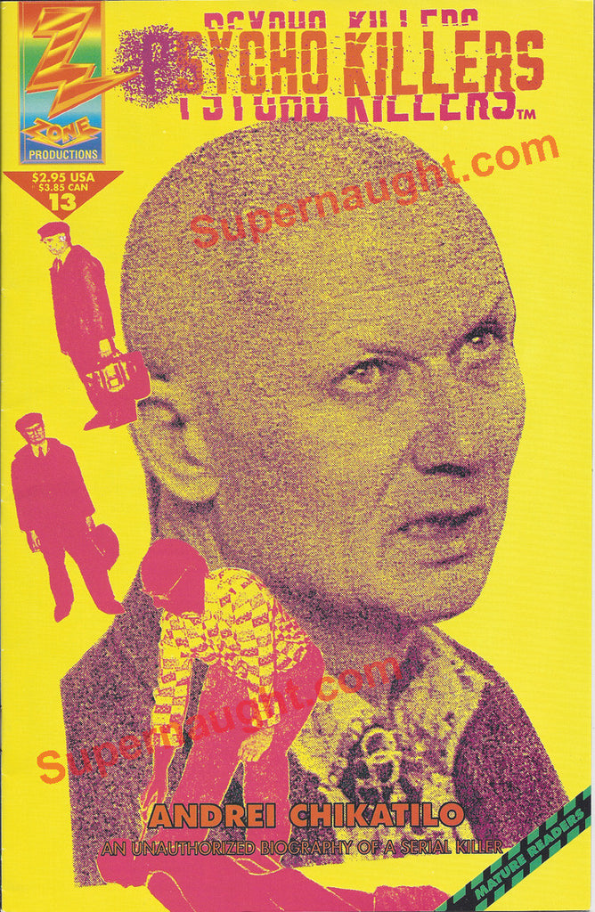 Psycho Killers Andrei Chikatilo comic book 1993 - Supernaught True Crime Collectibles