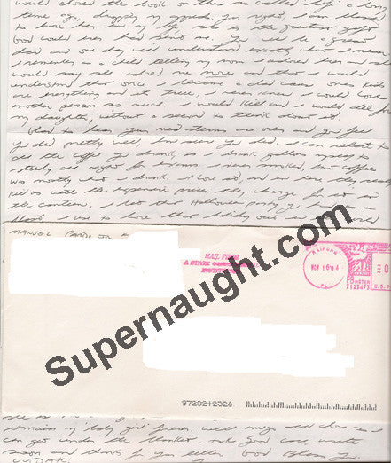 Manuel Pardo Jr letter and envelope both signed executed - Supernaught True Crime Collectibles