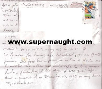 Michael Perry letter and envelope signed - Supernaught True Crime Collectibles
