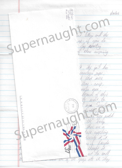 Scott Peterson 2005 three page letter and envelope set both signed - Supernaught True Crime Collectibles - 1