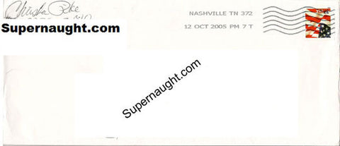 Christa Pike prison stamped envelope signed - Supernaught True Crime Collectibles