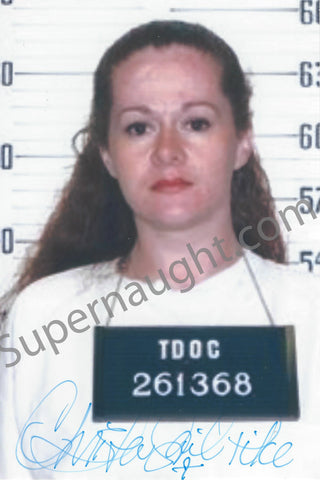 Christa Pike Mugshot Photo Signed in Full