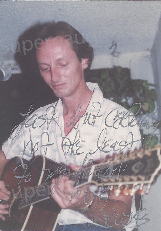Brooks Poston Manson Family Candid Photo Signed - Supernaught True Crime Collectibles
