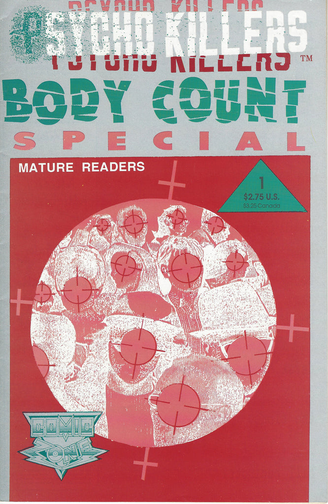 Psycho Killers Body Count Comic Book 1992 Volume 1 - Supernaught True Crime Collectibles