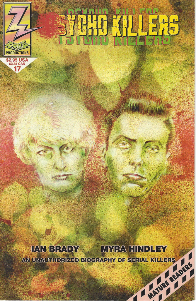 Ian Brady and Myra Hindley Psycho Killers 1993 Comic Book