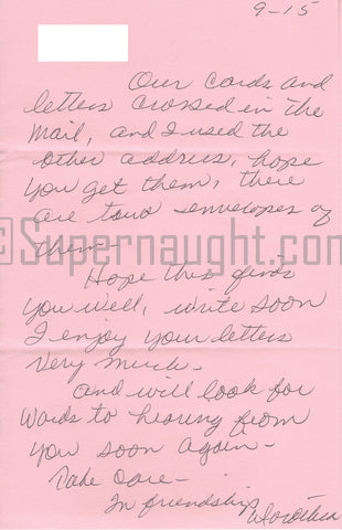Dorothea Puente Female Serial Killer Letter Signed