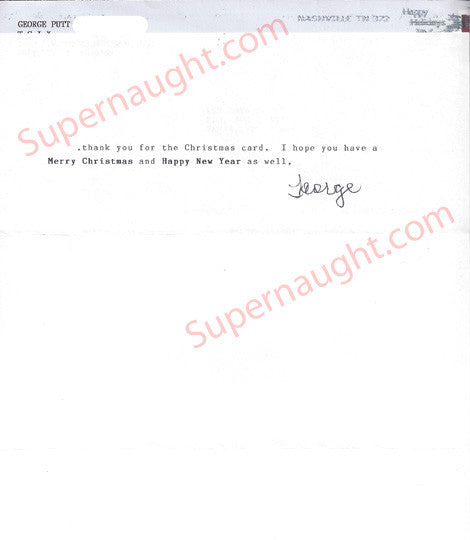 George Putt Note From Prison Signed with Envelope Set - Supernaught True Crime Collectibles