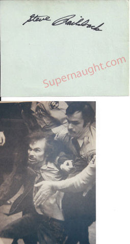 Steve Railsback autograph page signed with photo - Supernaught True Crime Collectibles
