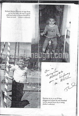Richard Ramirez Signed Childhood Photos Night Stalker