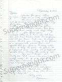 Doreen Lioy Ramirez Signed Letter from Death Row