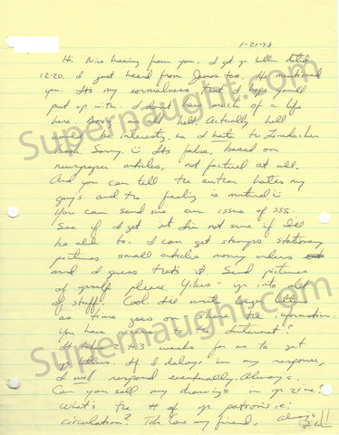 Richard Ramirez Night Stalker Prison Letter Signed