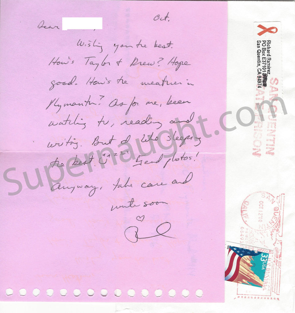 Richard Ramirez Note on Pink Stationary Signed Richard with Envelope