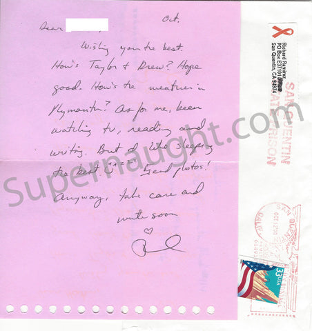 Richard Ramirez hot pink letter signed envelope death row serial killer