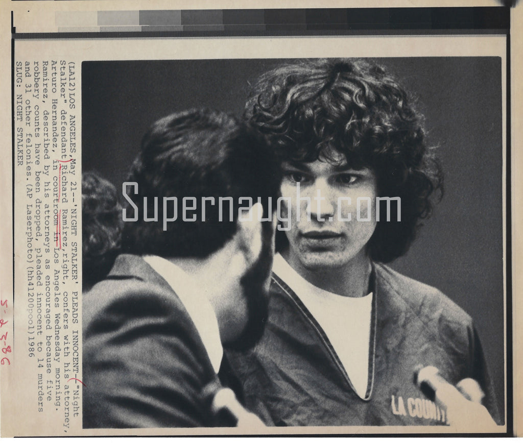 Richard Ramirez 1986 LAPD Press Photo