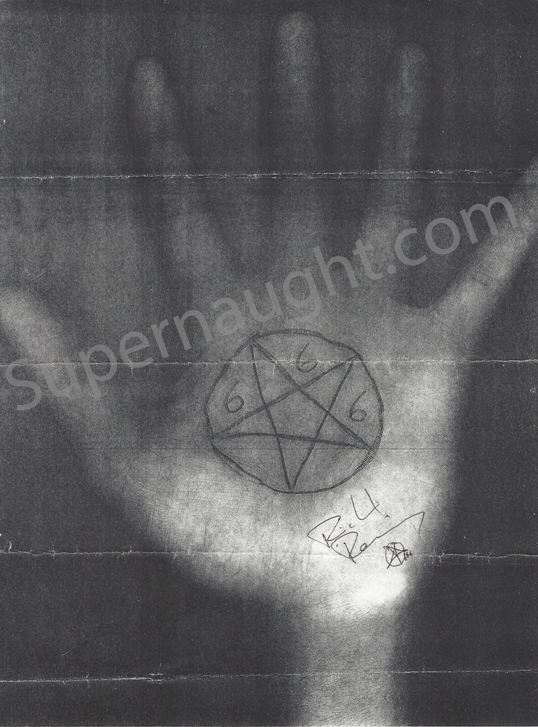 Richard Ramirez Left Hand Pentagram Drawing Signed