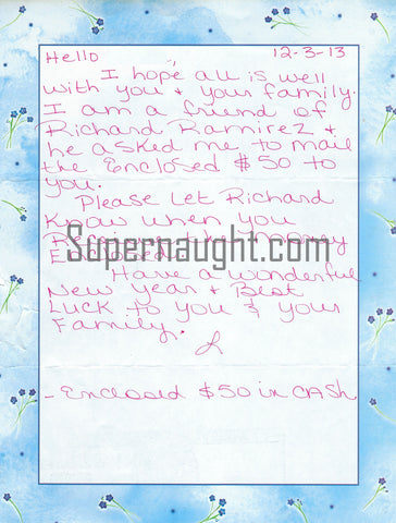 Richard Ramirez Pen Pal
