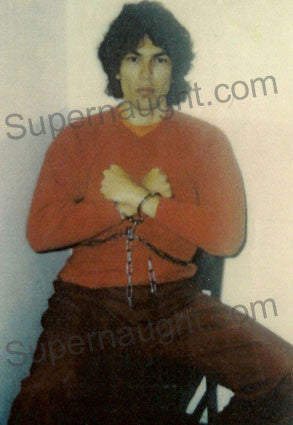 Richard Ramirez death row in handcuffs photo - Supernaught True Crime Collectibles