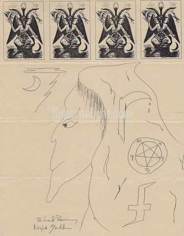 Richard Ramirez Signed Satanic Artwork