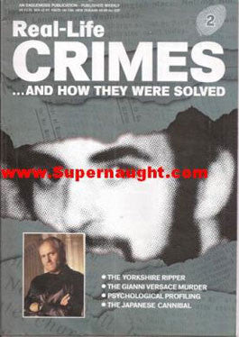 Real Life Crimes Peter Sutcliffe Issei Sagawa and Andrew Cunanan 2003 - Supernaught True Crime Collectibles
