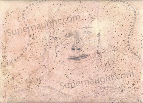 Angel Resendiz Self Portrait Artwork Signed - Supernaught True Crime Collectibles - 1