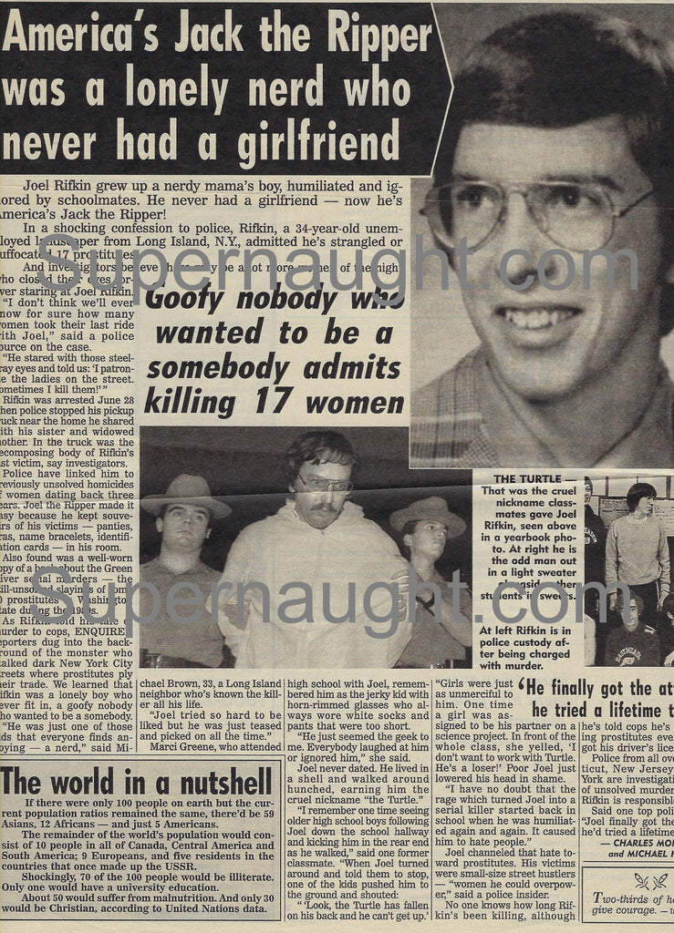 Joel Rifkin America's Jack the Ripper National Enquirer