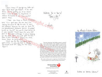 Hope Rippey Christmas card and envelope set both signed - Supernaught True Crime Collectibles