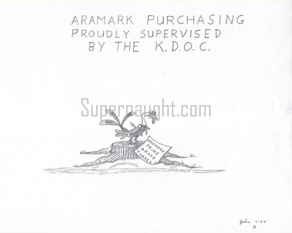 John Edward Robinson Aramark KDOC Signed Drawing