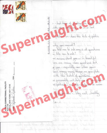 Richard Robles 4 page letter and signed envelope - Supernaught True Crime Collectibles