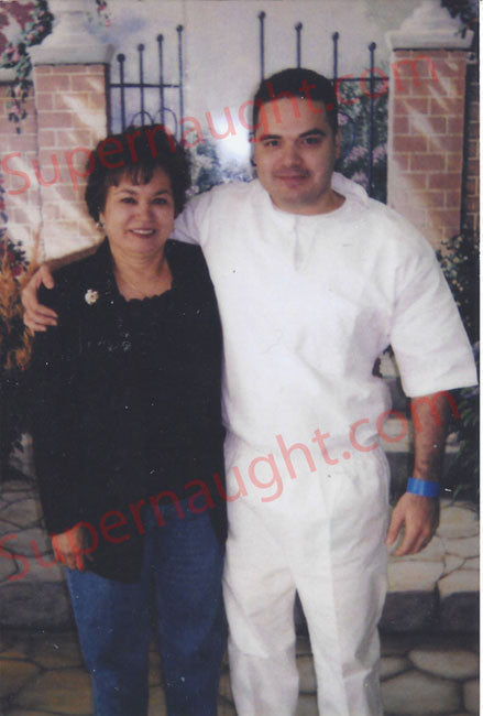 Michael Rodriguez his brother and mom prison photo - Supernaught True Crime Collectibles