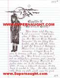 Danny Rolling Original Sicarius Manuscript with 5 Signed Envelopes - Supernaught True Crime Collectibles - 4