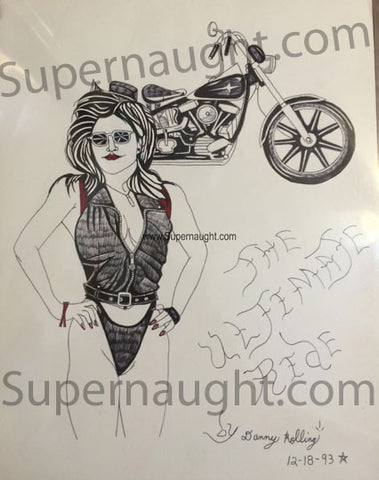 Danny Rolling Sondra London The Ultimate Ride Artwork Signed - Supernaught True Crime Collectibles