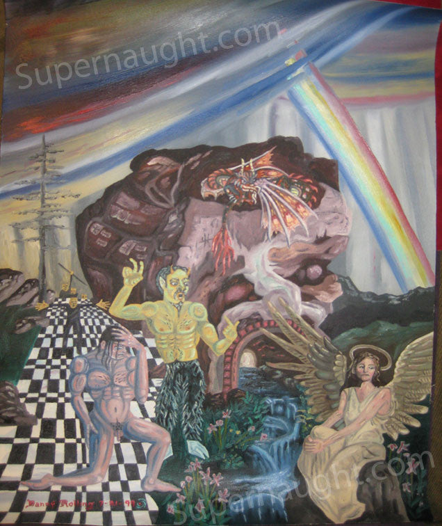 Danny Rolling DeProfundis Oil Painting Signed Twice - Supernaught True Crime Collectibles - 1
