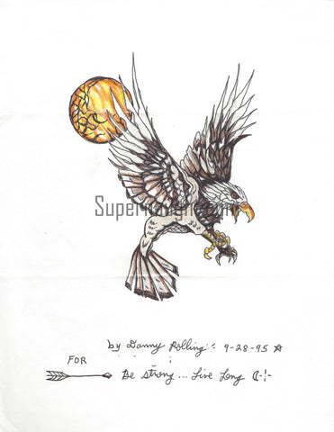 Danny Rolling 1995 Eagle Drawing Signed