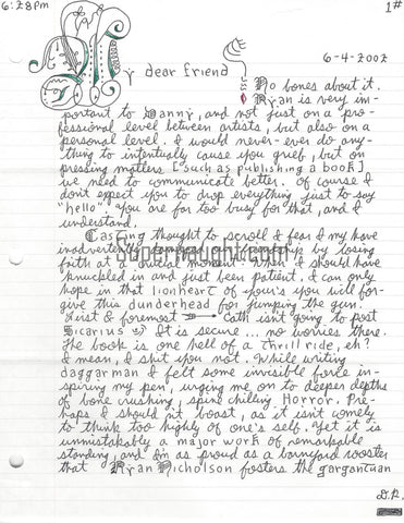 danny rolling letter from death row sondra london