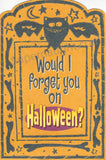 Robin Row Halloween Card and Envelope Set Both Signed - Supernaught True Crime Collectibles - 1