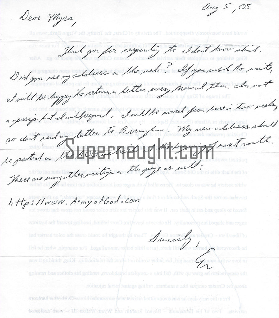 Eric Rudolph County Jail Letter and Envelope