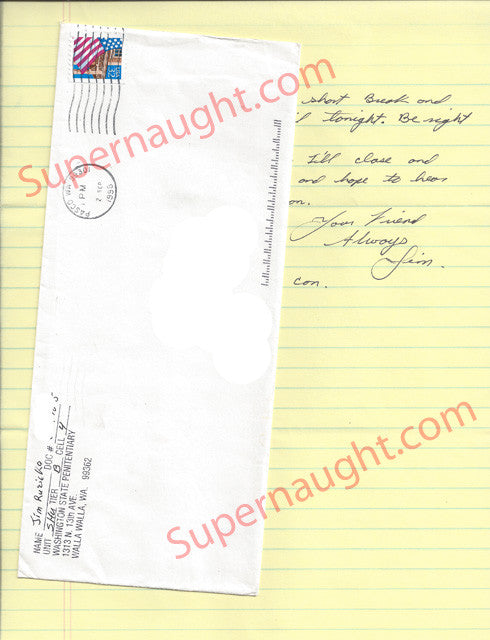 James Ruzicka Signed Letter and Envelope Set