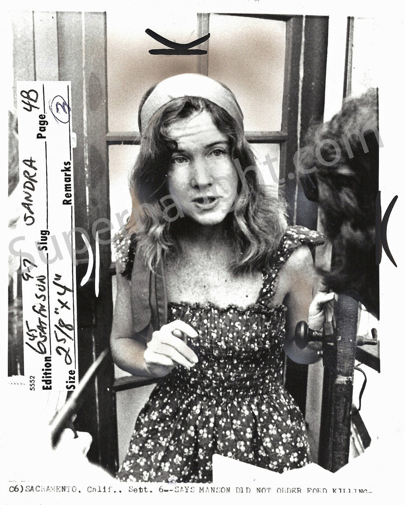 Sandra Good Manson Family September 1975 Press Photo - Supernaught True Crime Collectibles - 1