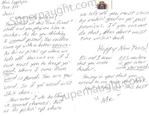 Marc Sappington Vampire Signed Letter
