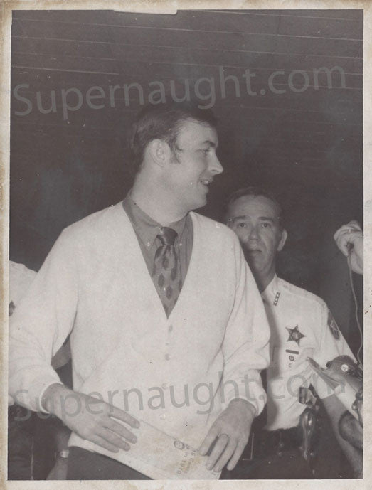 Gerard Schaefer 1973 courthouse press photo - Supernaught True Crime Collectibles - 1