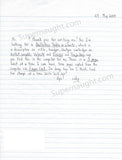 heriberto eddie seda signed letter new york city zodiac killer