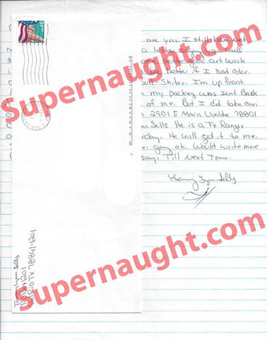 Tommy Lynn Sells letter and envelope set from county jail both signed - Supernaught True Crime Collectibles