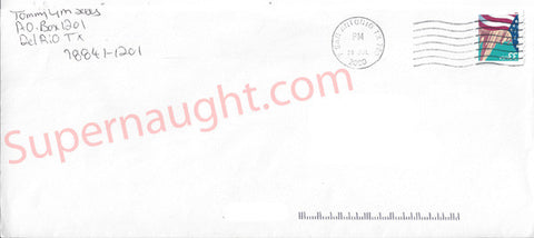 Tommy Lynn Sells county jail envelope signed - Supernaught True Crime Collectibles