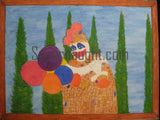 Tommy Lynn Sells Patches the Clown Death Row Painting - Supernaught True Crime Collectibles - 1