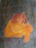 Tommy Lynn Sells Tommy's Lioness painting signed - Supernaught True Crime Collectibles - 1