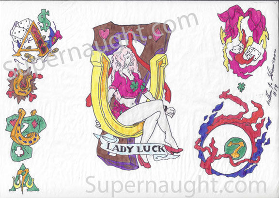 Arthur Shawcross Lady Luck Signed Artwork - Supernaught True Crime Collectibles